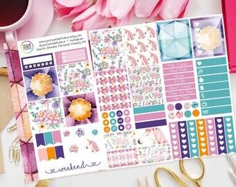 Unicorn Dreams Personal Planner Sticker Weekly Kit Mini Kit - Fantasy, Unicorns Planner Kit, Personal Stickers, Filofax Kit, Kikki K, TN etc