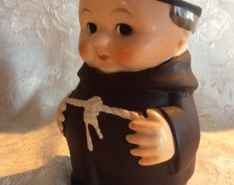 Vintage Friar Tuck Goebel ceramic Hummel monk creamer 1960