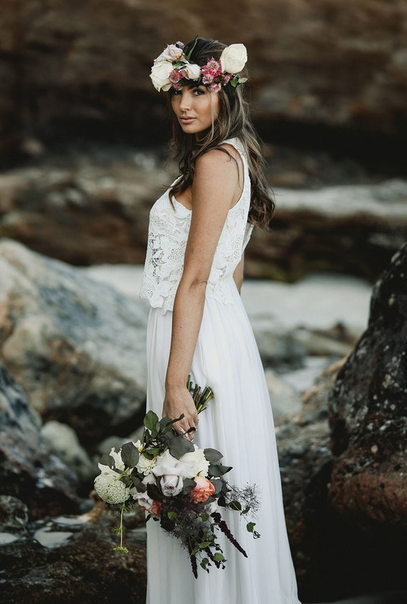 Modern Romance Wedding Dress : Bridal modern romantic bohemian australian wedding dresses
