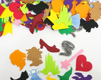Wizard of Oz Confetti - Dorthy, Toto, the Scarecrow, Cowardly Lion, Yellow Brick Road, Wicked Witch, Ruby Slippers, & more!