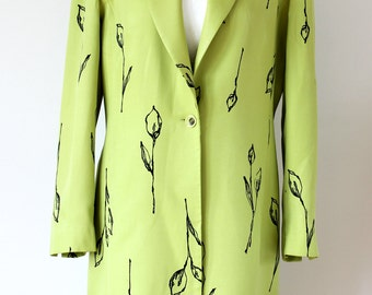 COUNTRY CASUAL Spring Ladies Coat, Lime green coat, Summer Coat, Party Coat - UK Size 14