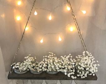 Floating Mason Jar Holder // Planter // Vase // Candle Holder