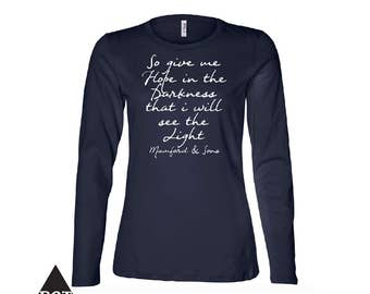 Mumford and Sons Lyrics Women's Relaxed Long Sleeve Jersey Tee
