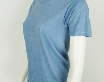 Vintage Natural Indigo Hand Dyed T-Shirt size XS/Small