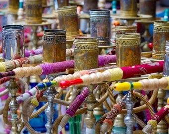 hookah pipes,Istanbul,Turkey, Istanbul Grand Bazaar, large wall art,Turkish wall art, multi colour, fine art photography, Turkey photography