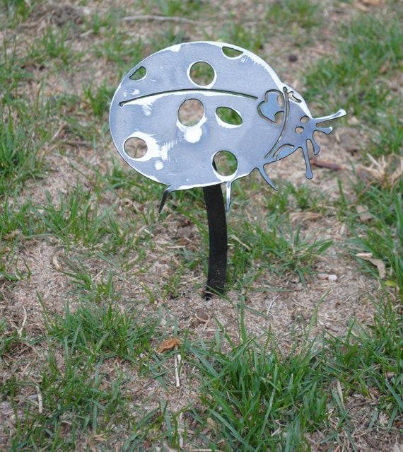 Metal Ladybug Garden Decor, Metal Ladybug, Ladybug, Bug, Insect, Garden Art, Yard Art, Lawn Ornament, Mothers Day Gift, Gift for Mom, Metal