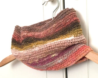 Crochet Cowl / Infinity Scarf / Noro Cowl / Cowl Scarf. Sunset Cowl