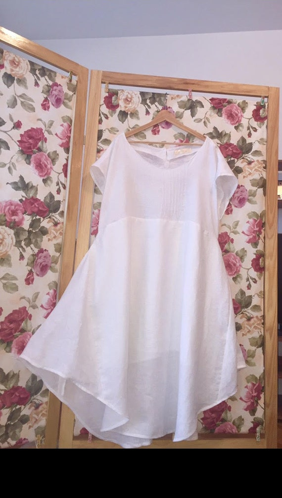Items similar to linen womens clothing beach wedding for White linen dress for beach wedding