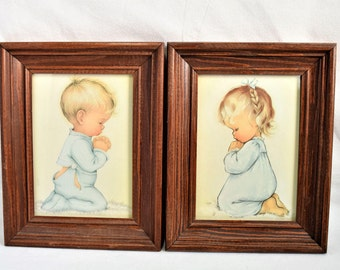 Vintage Set of 2  Charlot Byj  Pictures/Framed Prints/ Wall Hanging/ Home Decor/ Baroque Picture Frame