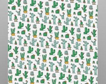 Cacti and Chameleon poster