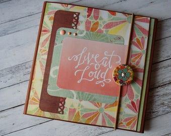 Photo folio, scrapbook album, scrapbook folio, handmade album, travel book, folio album, premade scrapbook, mini album, birthday gift