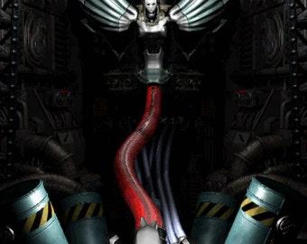 Final Fantasy VII Sephiroth and Jenova Poster