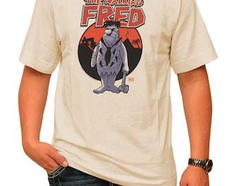 THE WALKING FRED! pre shrunk 100% cotton, short sleeve t-shirt - The Walking Dead/Fred Flintstone Parody