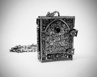 BOOK of SHADOWS - Locket Necklace Silver Tone