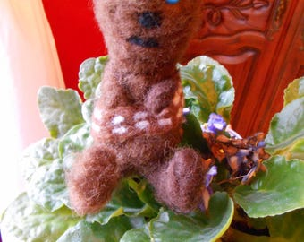 Star Wars inspired Wookie,needle felted Star Wars inspired Wookie,baby wookie