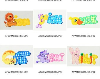 Animal-Names-2-Applique ( 10 Machine Embroidery Designs from ATW )
