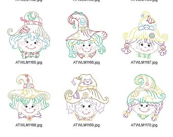 Multiline-Scarecrow-Faces ( 10 Machine Embroidery Designs from ATW )XYZ17B