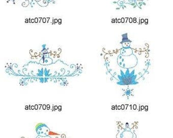 Wintertime  ( 10 Machine Embroidery Designs from ATW ) XYZ17C
