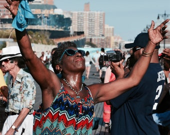 "New York photography, Brooklyn, Coney Island, ""People of New York"", 20 cm x 30 cm, 8"" x 12"""