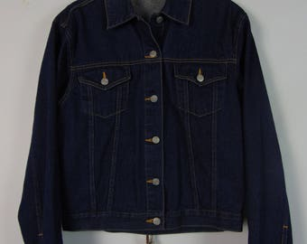 Vintage Dark Denim Jacket