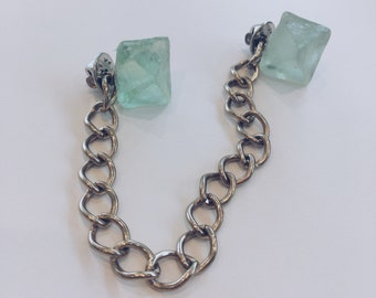 Fluorite Collar Pin