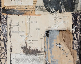 HOWEVER- Mixed Media Painted Collage