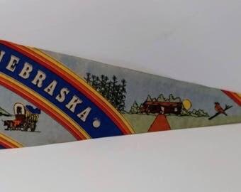 Nebraska - Vintage Pennant