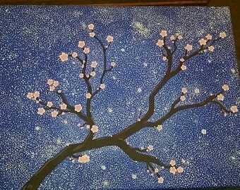 Cherry Blossoms with Stars
