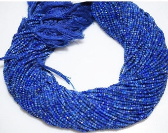 A+ Quality Fine Diamond Cutting Lapis Rondelle Beads 13 Inch Strand ,Lapis Faceted Rondelle Beads ,2- 2.50 mm - MC371A
