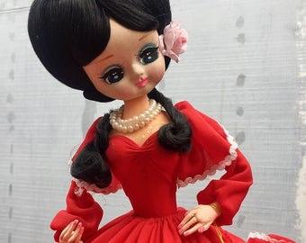 Vintage 1970's Southern Belle Bradley Doll