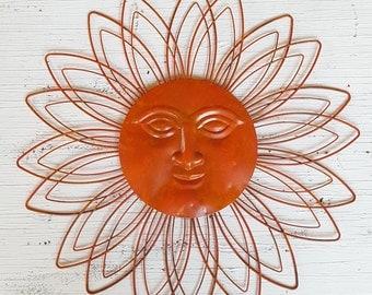 Gentil Large Metal Sun Wall Art / Garden Decor/ Metal Sun Face Decor/ Metal Garden