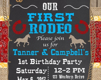 Western Birthday Party Invitation