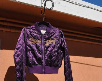Cute Girl Quilted Bomber