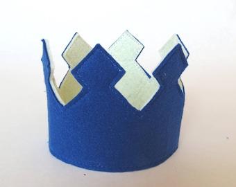 FREE WORLDWIDE SHIPPING, Navy Birthday Crown, Navy 1st. Birthday Crown,