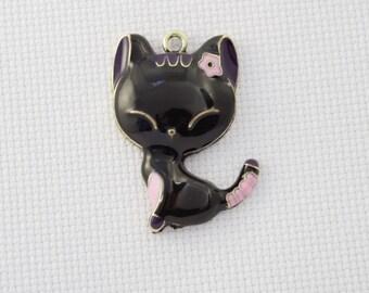 Black Cat Needleminder / Lucky Black Cat Needleminder