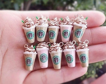 Starbucks Polymer Clay Charm - Starbucks Charm - Miniature - Starbucks Figurine - Starbucks - Clay Starbucks - Polymer Clay Charm