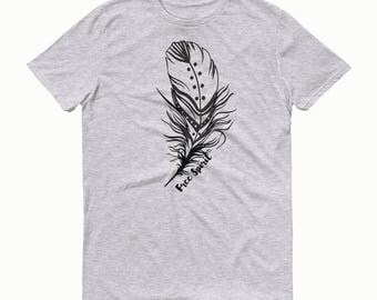 Free Spirit T-shirt, Feather T-shirt, Feather Free Spirit Tee