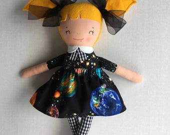 PumpernickelPlum Space STEM Doll - Girl