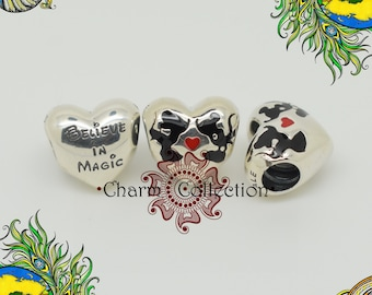 Genuine Pandora Disney, Minnie & Mickey Kiss Charm 791443ENMX