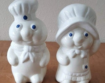 Pillsbury Dough Boy Poppin and Poppie Fresh Salt & Pepper Shakers