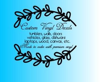 """Shop """"custom vinyl decal"""" in Home Décor"""