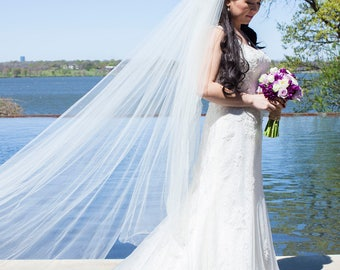 Handmade Ivory Wedding/Bridal Veil