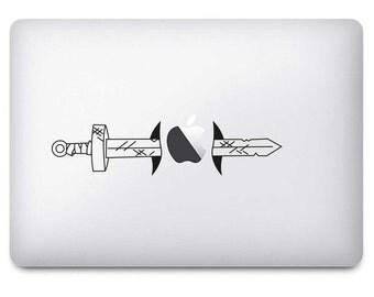 Adventure Time Finn Sword Black Vinyl Sticker
