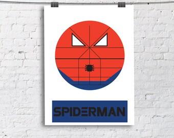Spiderman Little Boy- Nursery and Children's Room art print