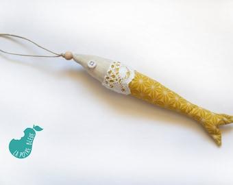 Fabric fish ornament, decoration
