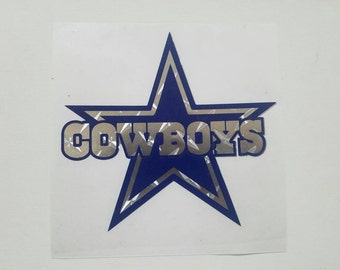 Dallas Cowboys decal / double layer / silver foil background / yeti decal / car decal