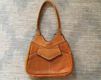 Vintage Tan Leather Purse