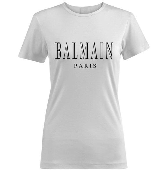balmain paris printed women 39 s t shirt. Black Bedroom Furniture Sets. Home Design Ideas