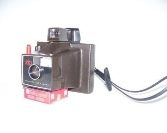 Camera Polaroid Land Camera ZIP purse 70's - Camera polaroid