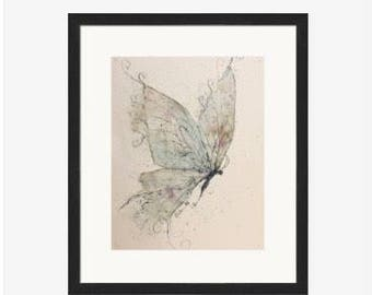 Watercolor butterfly, fairy butterfly, ethereal  wall art, art for girls room